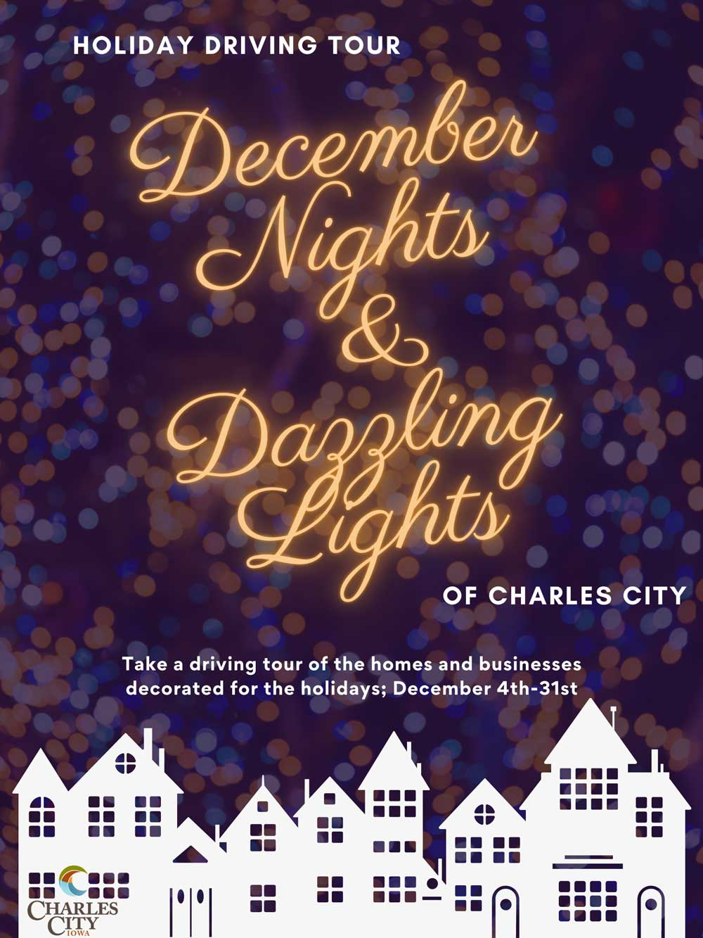 Charles City Chamber organizing holiday lights driving tour