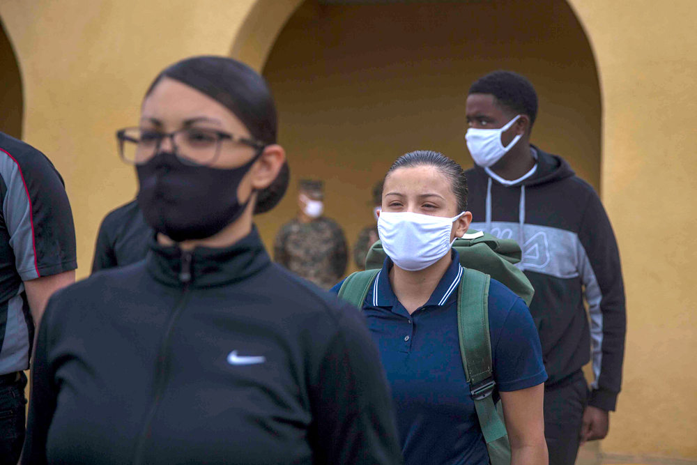 Bilharz among first women recruits at San Diego Marine Corps training depot